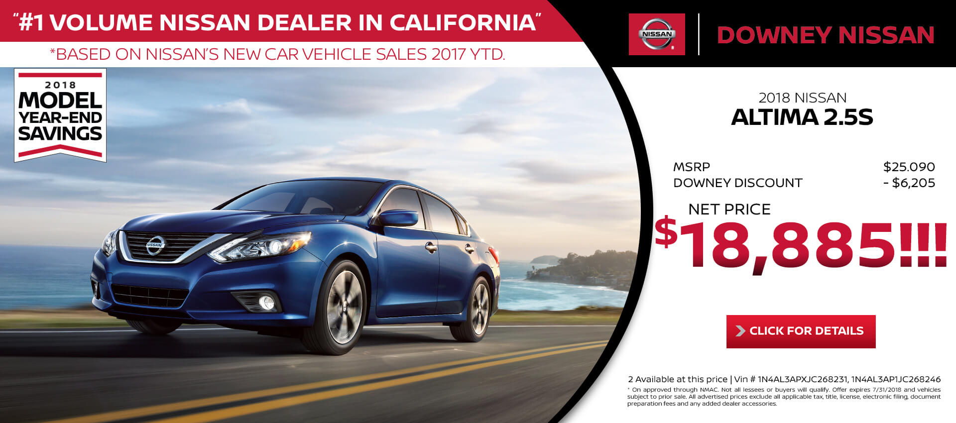 Altima - Purchase for $18,885