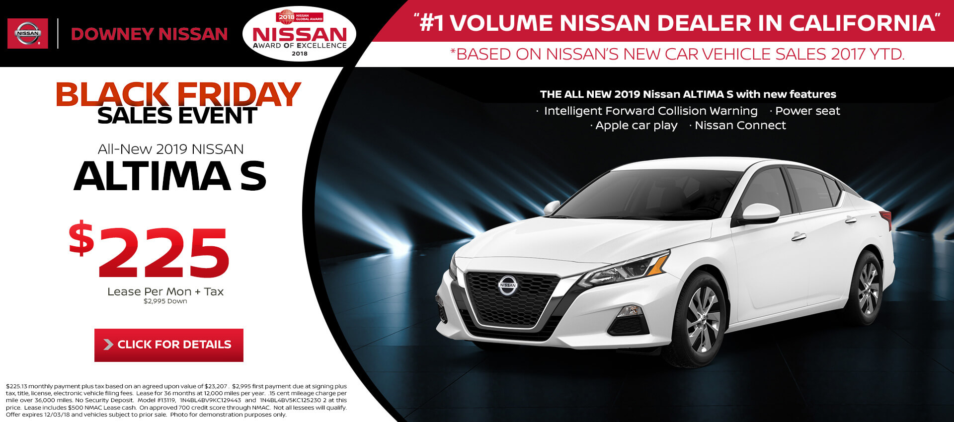 Altima - Lease for $225