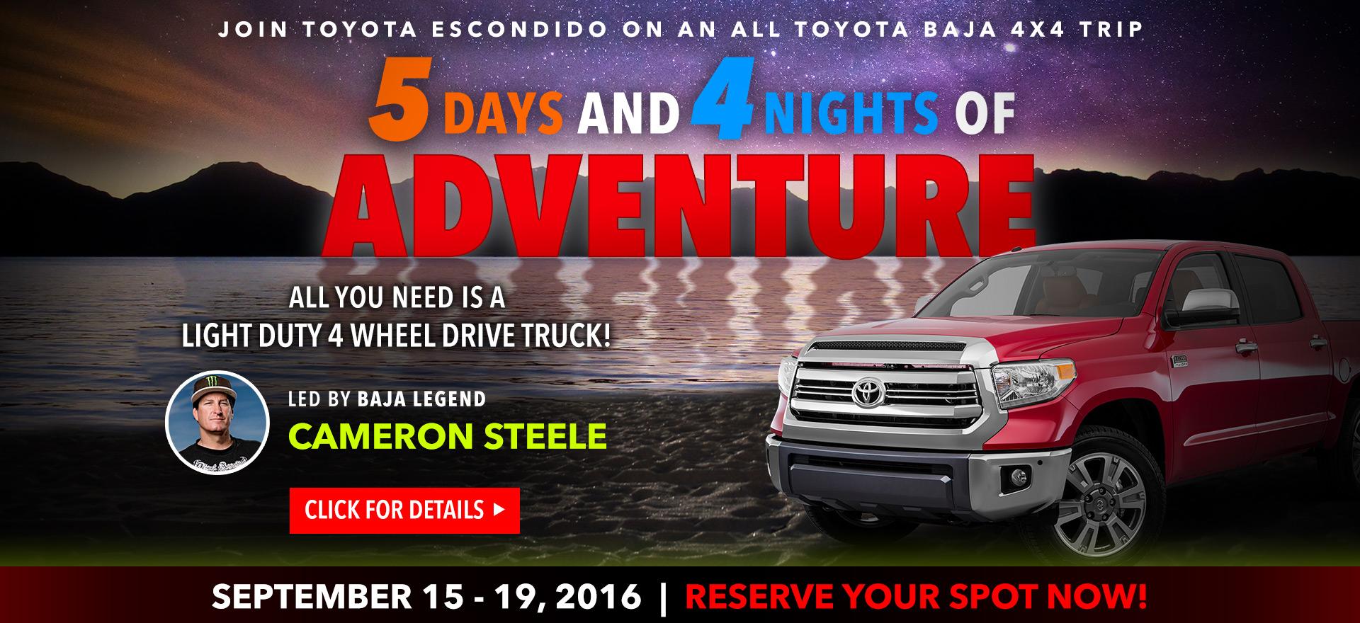 Toyota Escondido: Full Moon Baja Adventure!