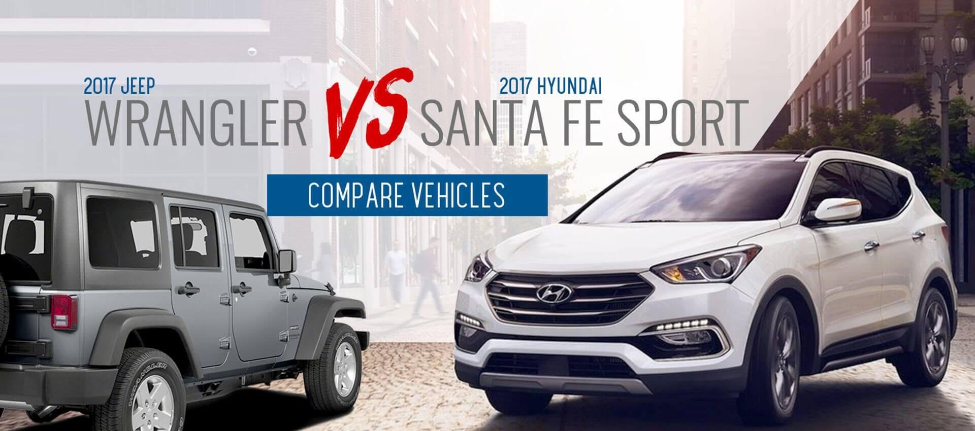 Wrangler Vs. Santa Fe Sport
