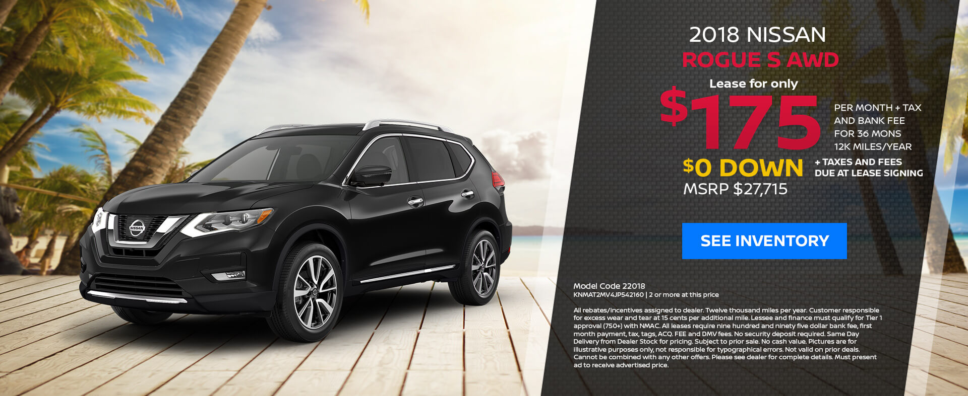 Nissan Rogue $175 Lease