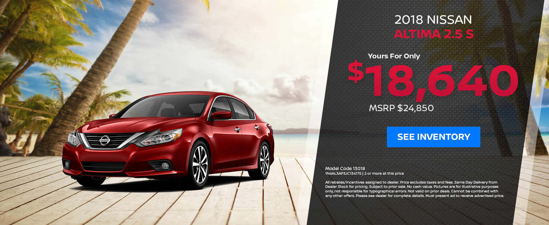 Nissan Altima $18,640 Purchase