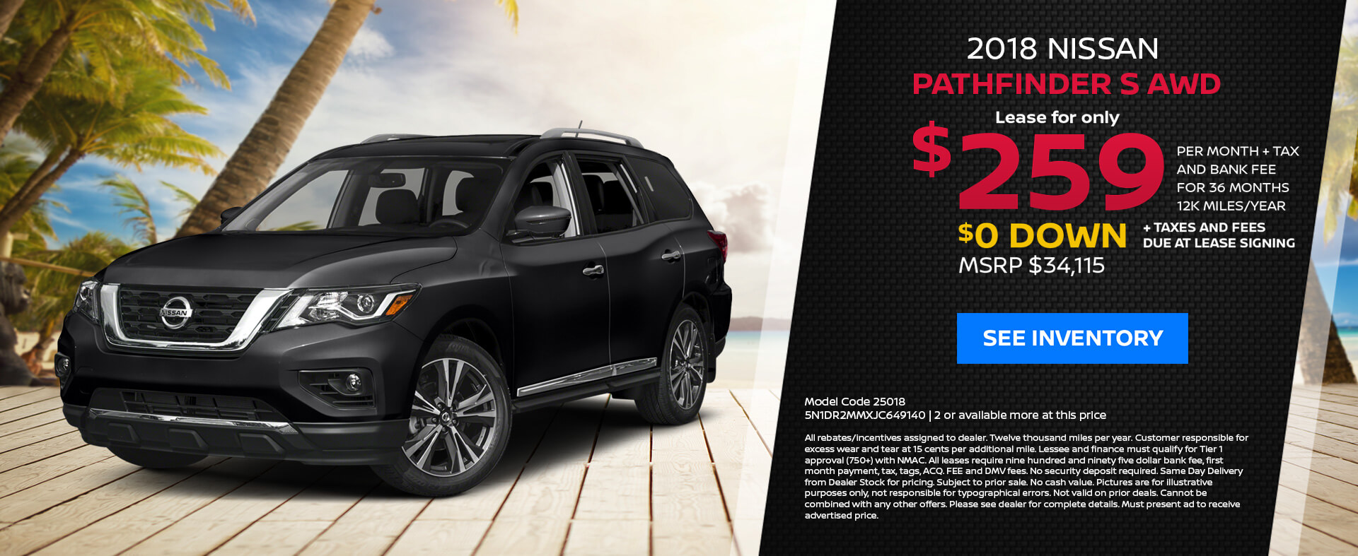 Nissan Pathfinder $259 Lease