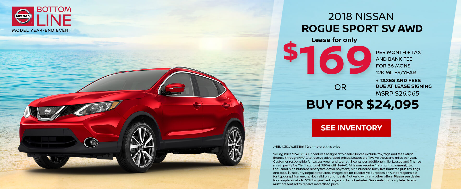 Nissan Rogue Sport $169 Lease