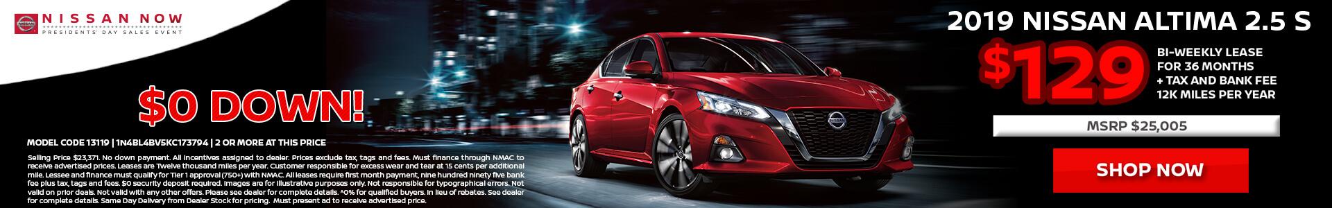 Nissan Altima $258 Lease