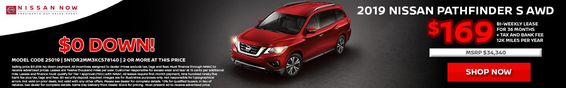 Nissan Pathfinder $338 Lease