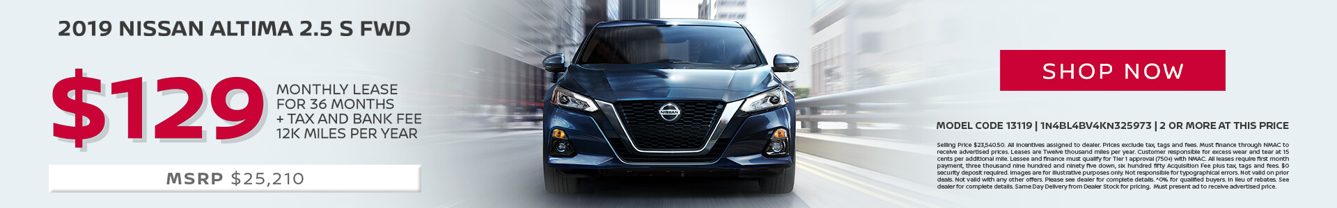 Nissan Altima $129 Lease