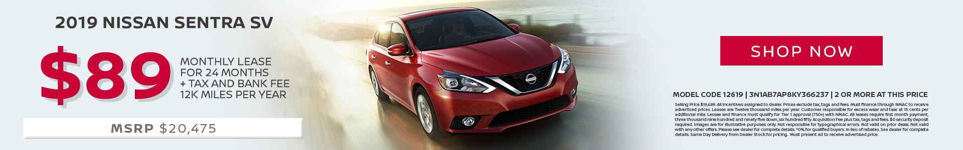 Nissan Sentra $89 Lease