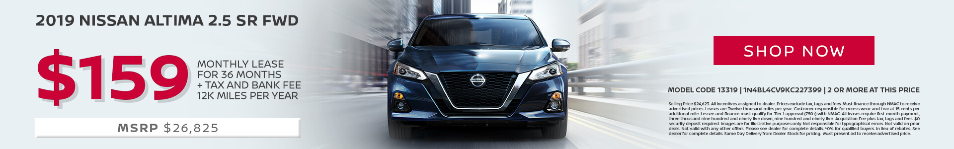 Nissan Altima $159 Lease