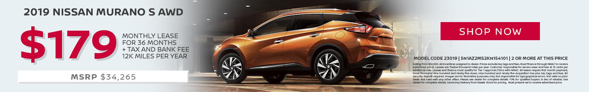 Nissan Murano $179 Lease