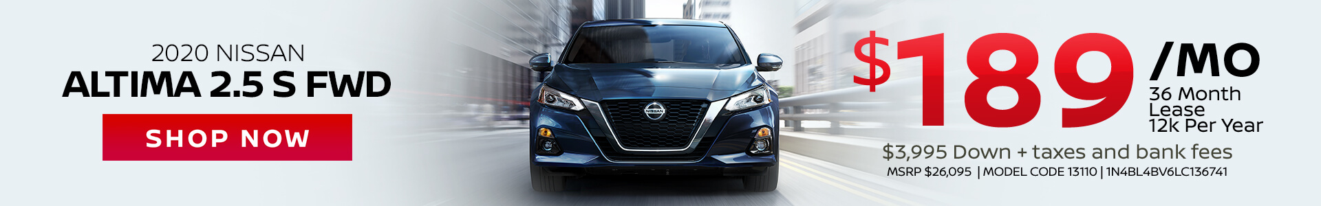 Nissan Altima $189 Lease