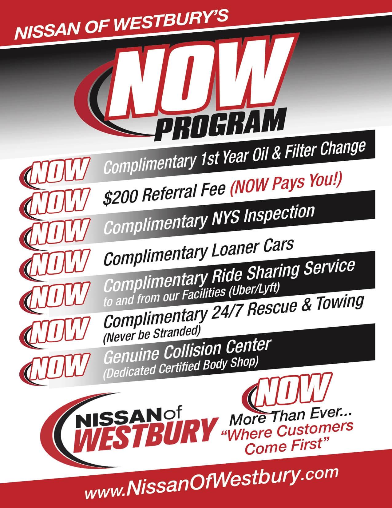Nissan of Westbury's NOW Program