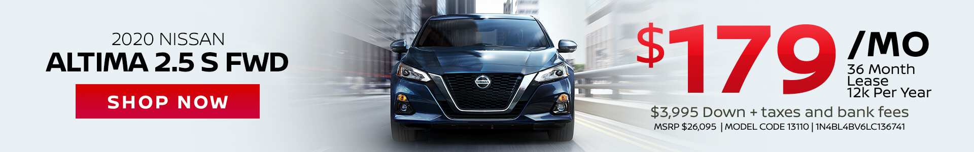 Nissan Altima $179 Lease