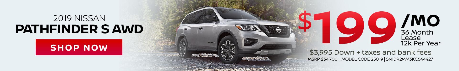 Nissan Pathfinder $199 Lease