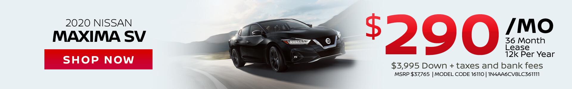 Nissan Maxima $290 Lease