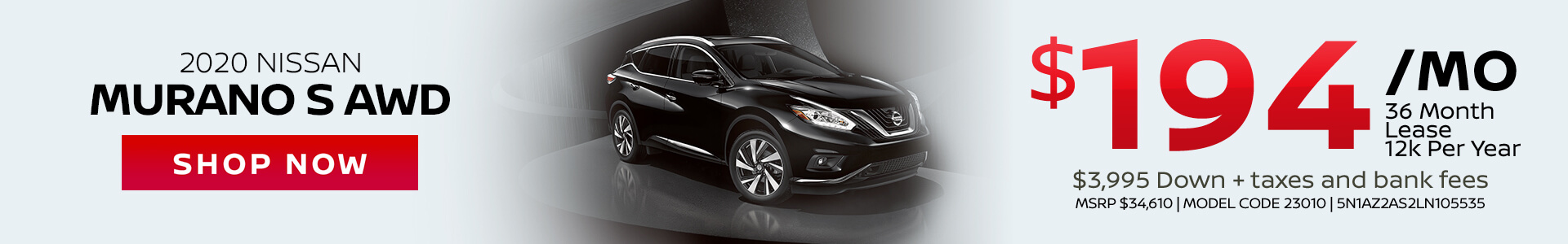Nissan Murano $194 Lease