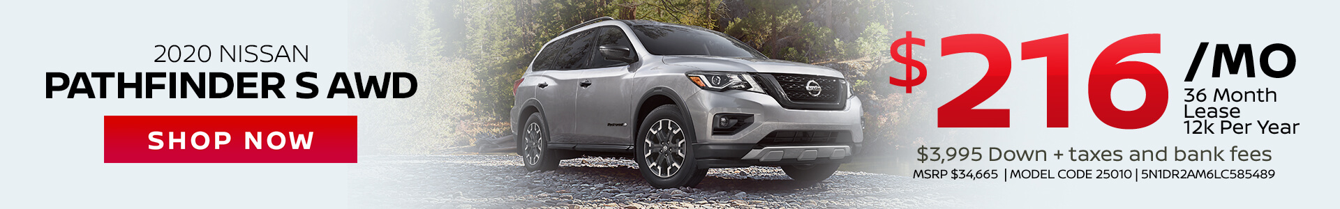 Nissan Pathfinder $216 Lease