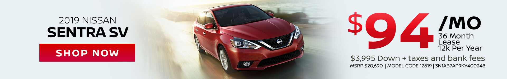 Nissan Sentra $94 Lease