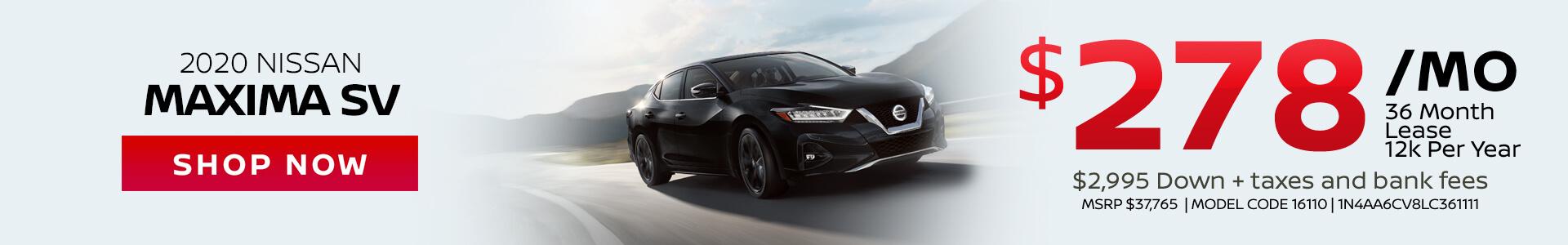 Nissan Maxima $278 Lease