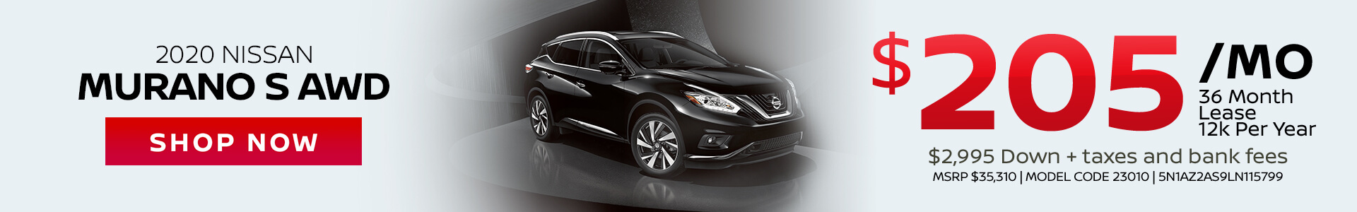 Nissan Murano $205 Lease