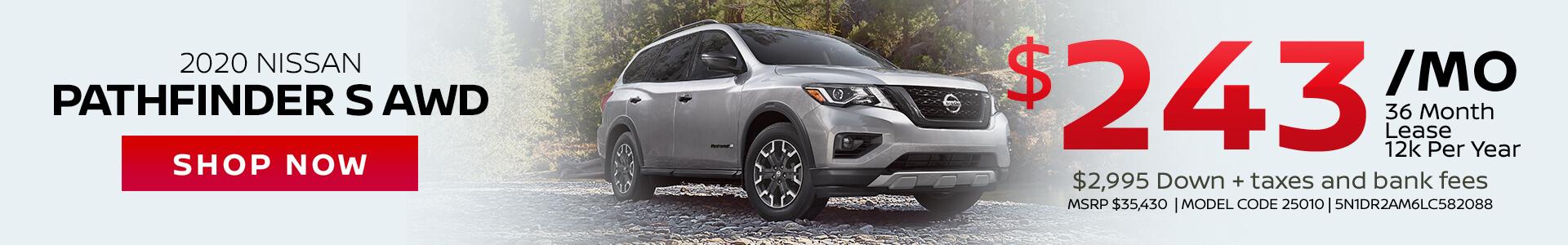 Nissan Pathfinder $243 Lease