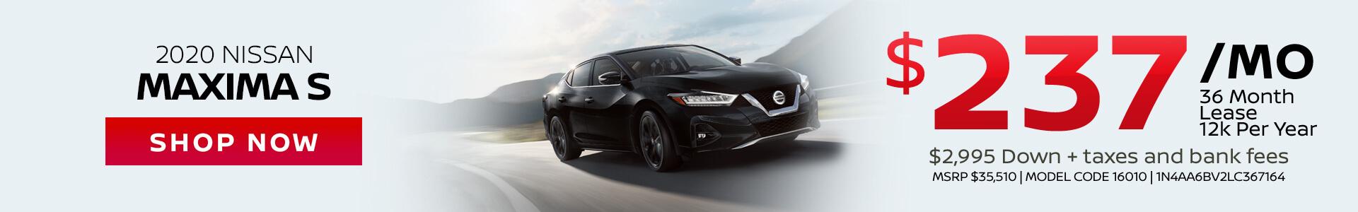 Nissan Maxima $237 Lease