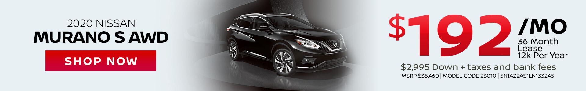 Nissan Murano $192 Lease