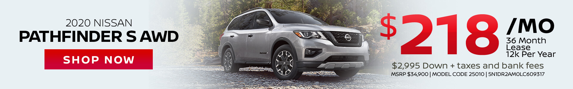 Nissan Pathfinder $218 Lease