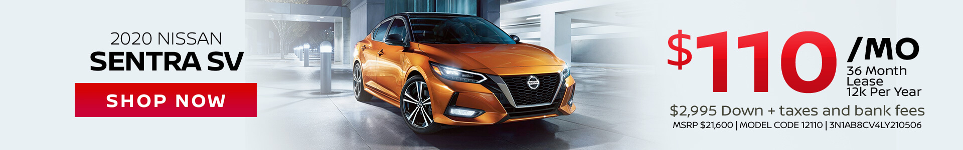 Nissan Sentra $110 Lease