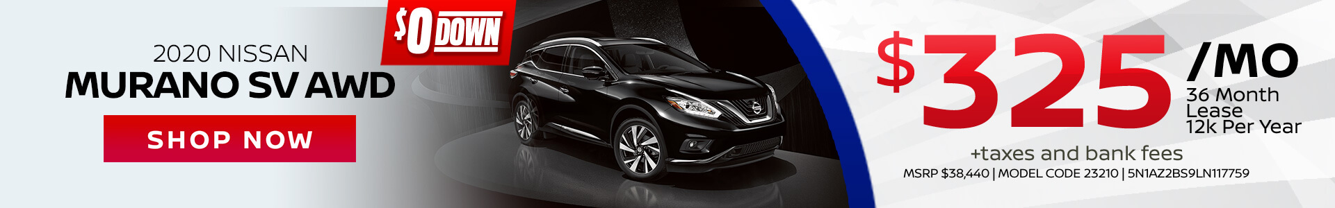 Nissan Murano $325 Lease