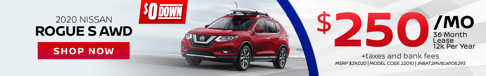 Nissan Rogue $250 Lease