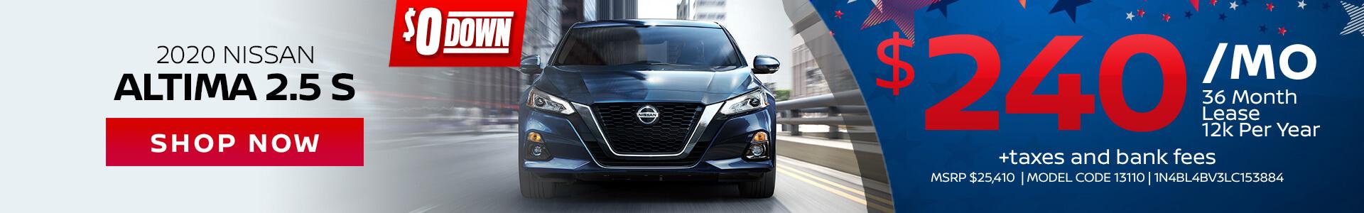 Nissan Altima $240 Lease