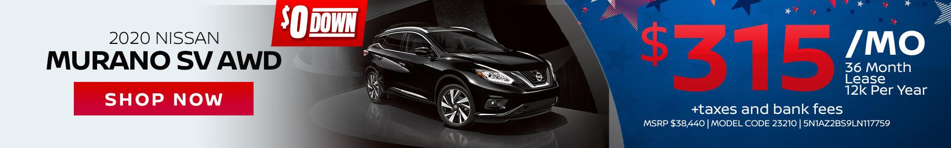 Nissan Murano $315 Lease