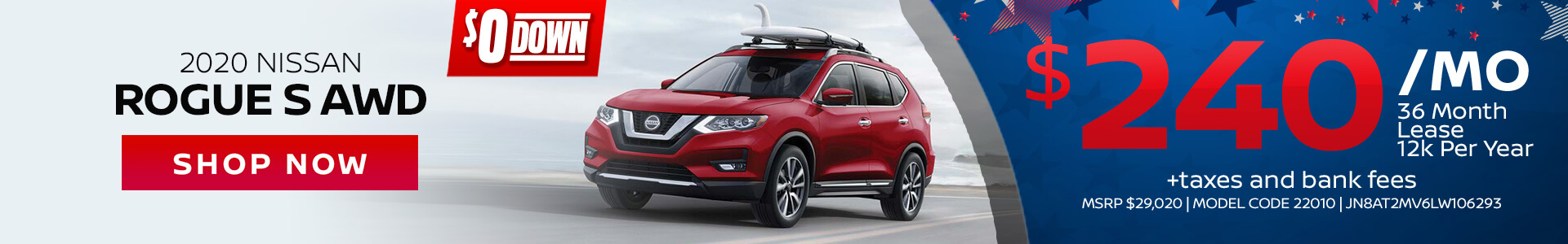Nissan Rogue $240 Lease