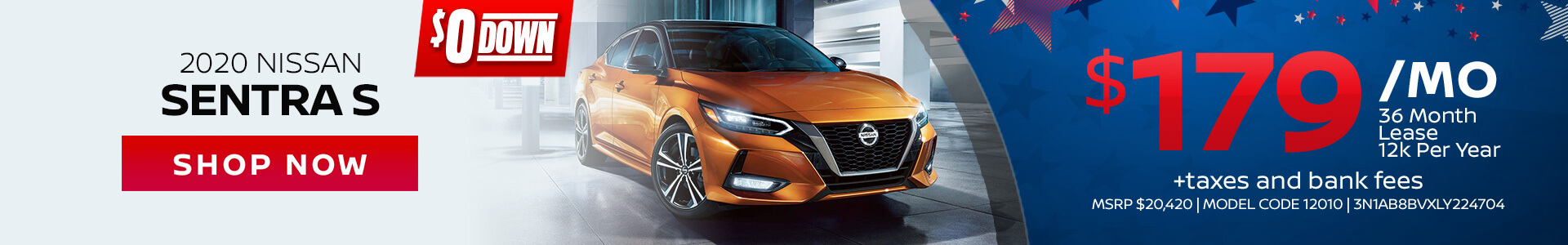 Nissan Sentra $179 Lease