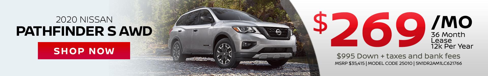 Nissan Pathfinder $269 Lease