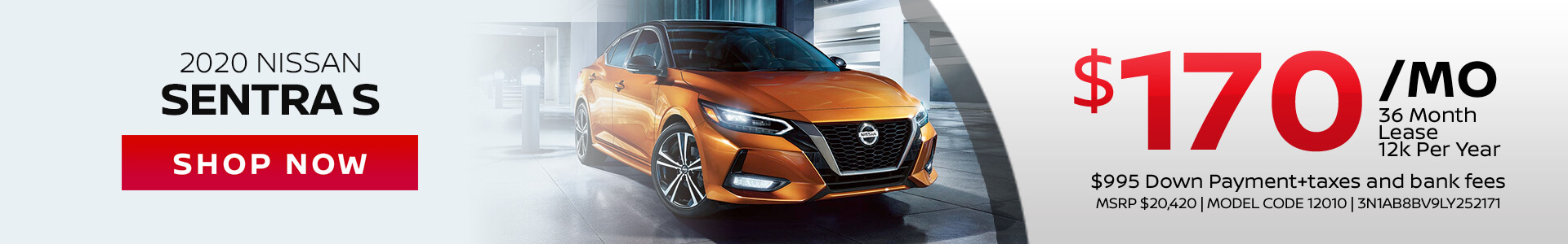Nissan Sentra $170 Lease