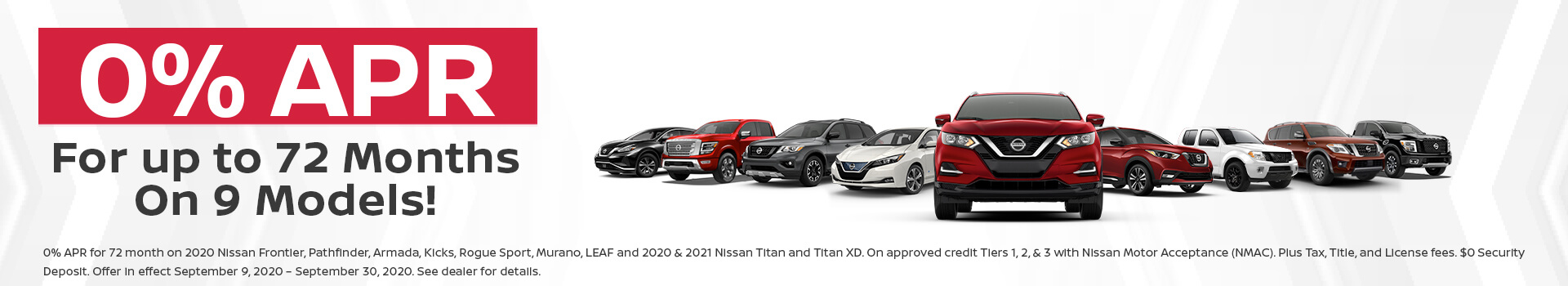 Nissan 0% APR Offer