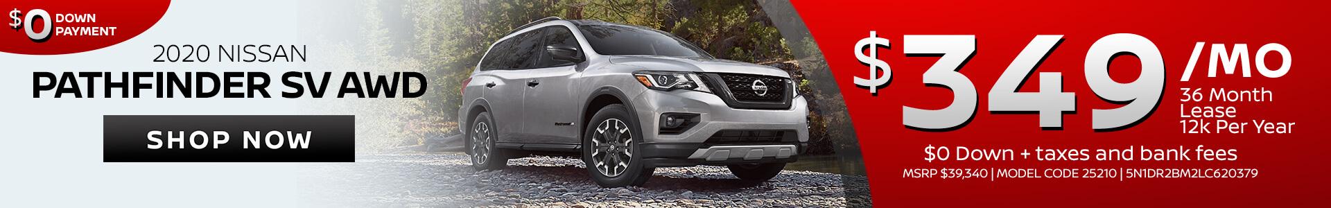 Nissan Pathfinder $349 Lease