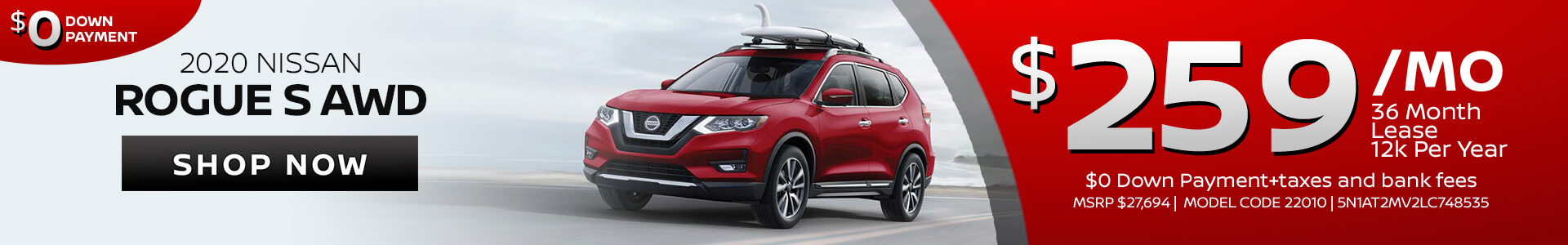 Nissan Rogue $259 Lease