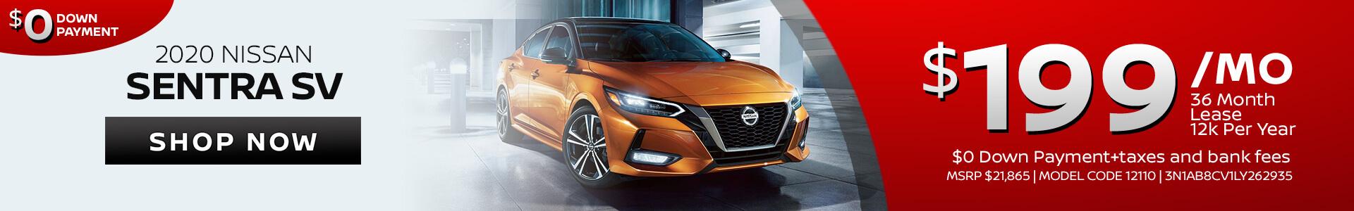 Nissan Sentra $199 Lease