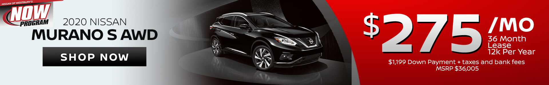 Nissan Murano $275 Lease