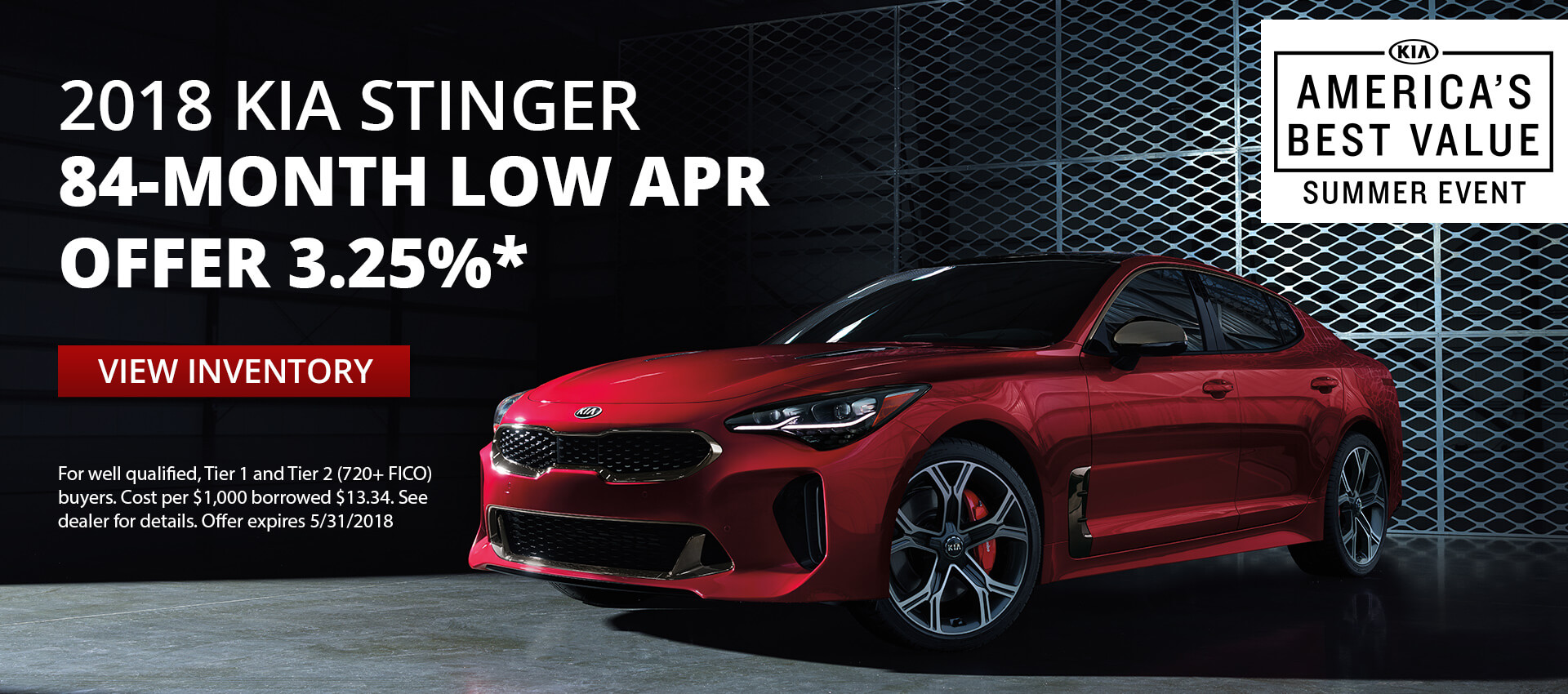 Kia Stinger 3.25% 84-month