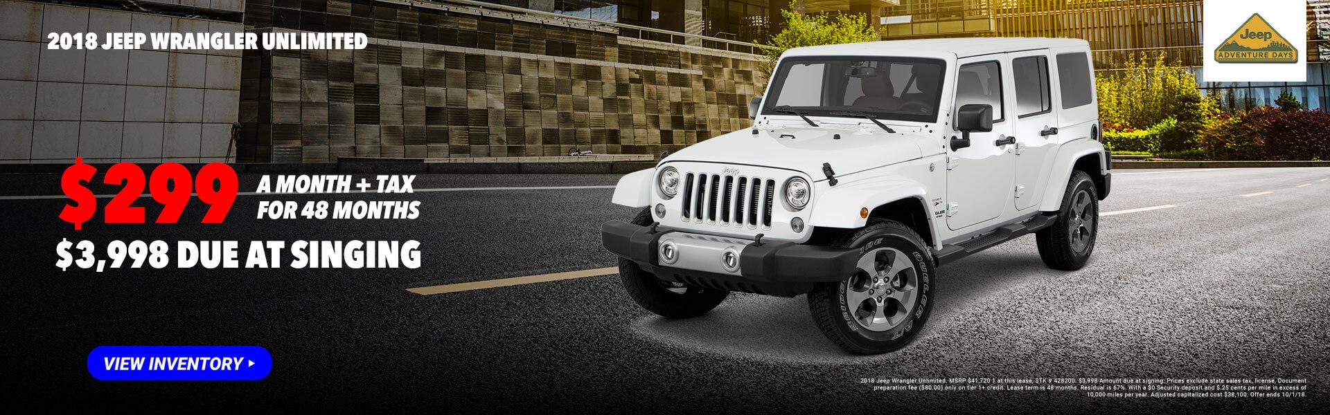 2018 Jeep Wrangler Unl