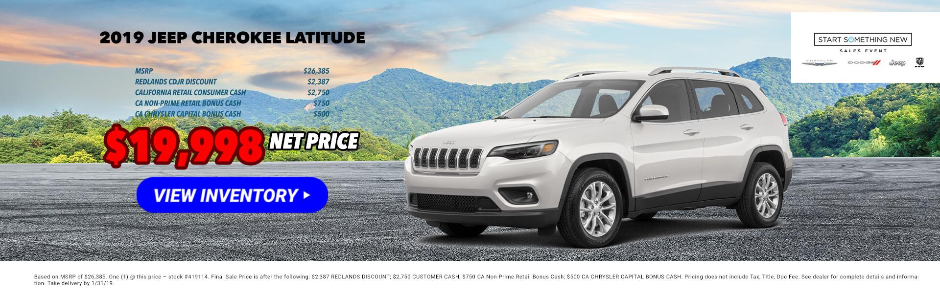 2019 Jeep Cherokee 419114