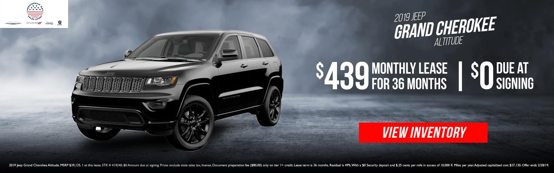 2019 Jeep Grand Cherokee 419240