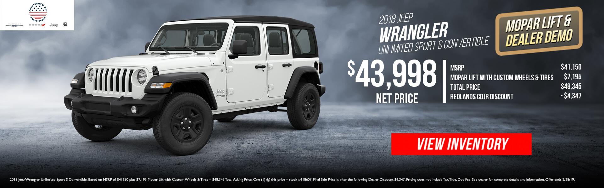 2018 Jeep Wrangler 418607