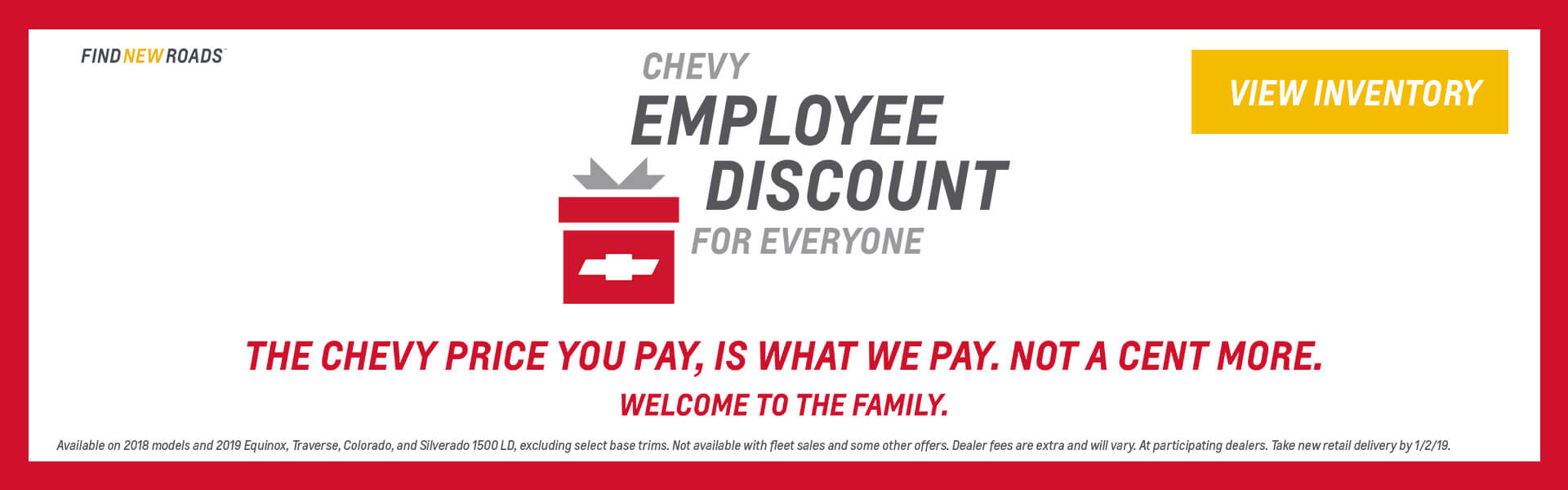 Chevy Employee Pricing