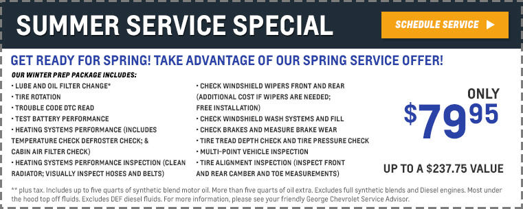 Service Specials Available In Bellflower Ca George Chevrolet