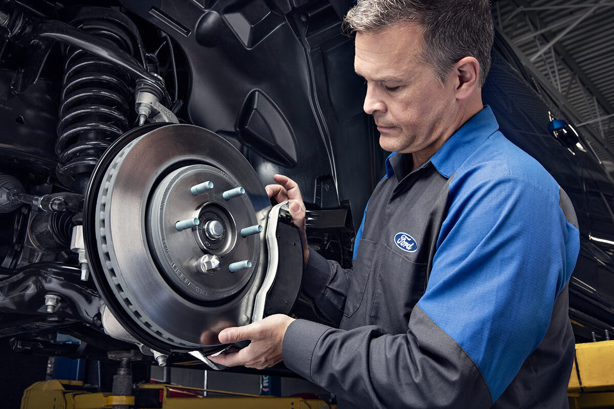 MOTORCRAFT® BRAKE PADS INSTALLED